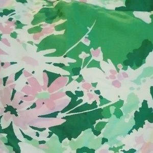 TALBOTS 10 Floral Pencil Skirt, Limes Pink Green